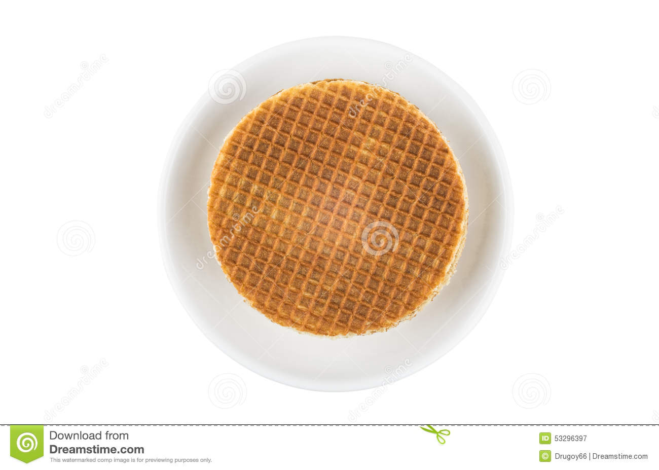 Stack of round waffles in glass saucer