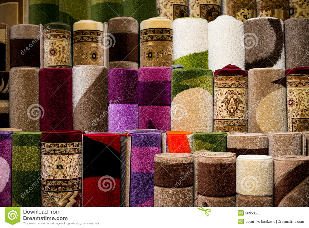Stack Of Rugs Stock Image Image Of Material Carpet