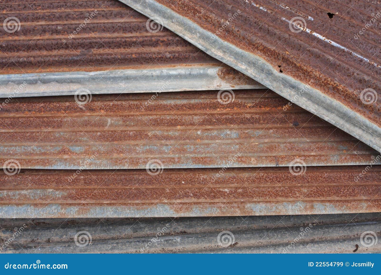Stack Of Rusty Corrugated Iron Metal Stock Image Image