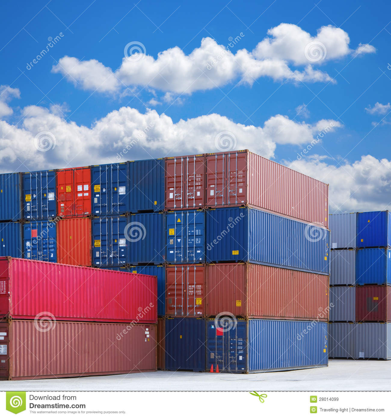 Stack of Shipping Containers