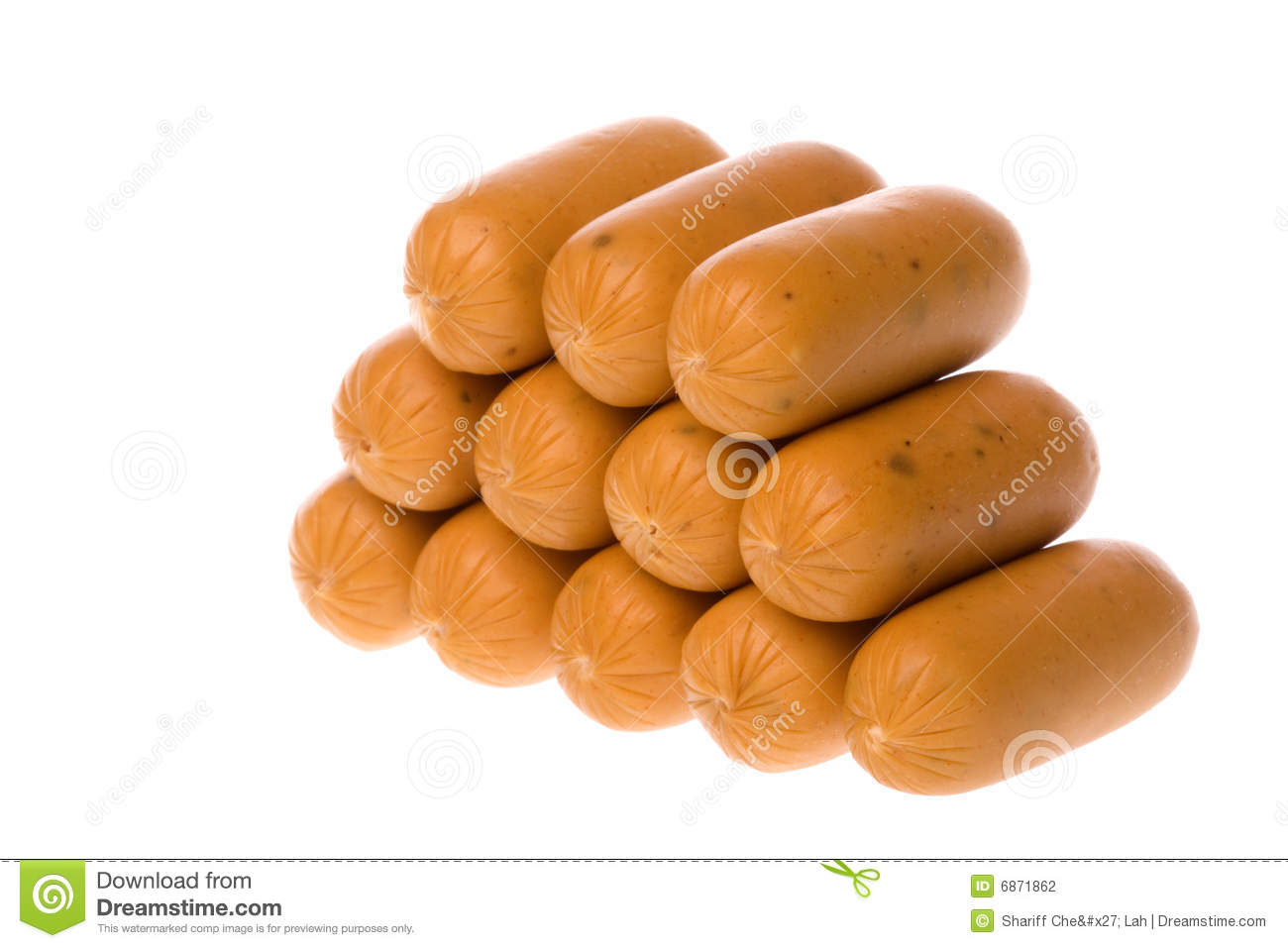 Stack Of Short Sausages Stock Photography Image 6871862