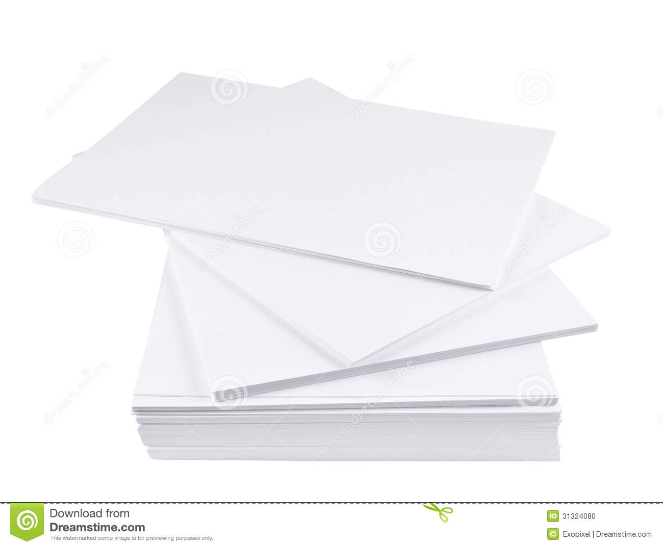 Stack Of A4 Size White Paper Sheet Stock Photo - Image of ...