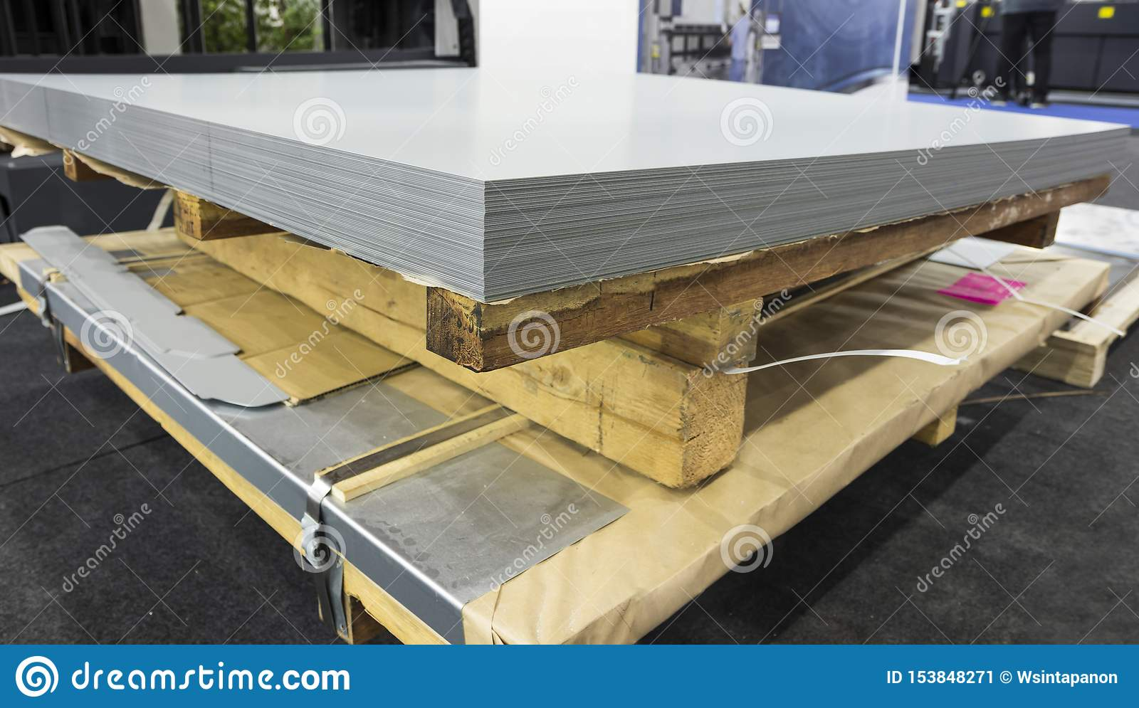 Stack Of Steel Sheets ; Ready To Use Stock Image - Image ...