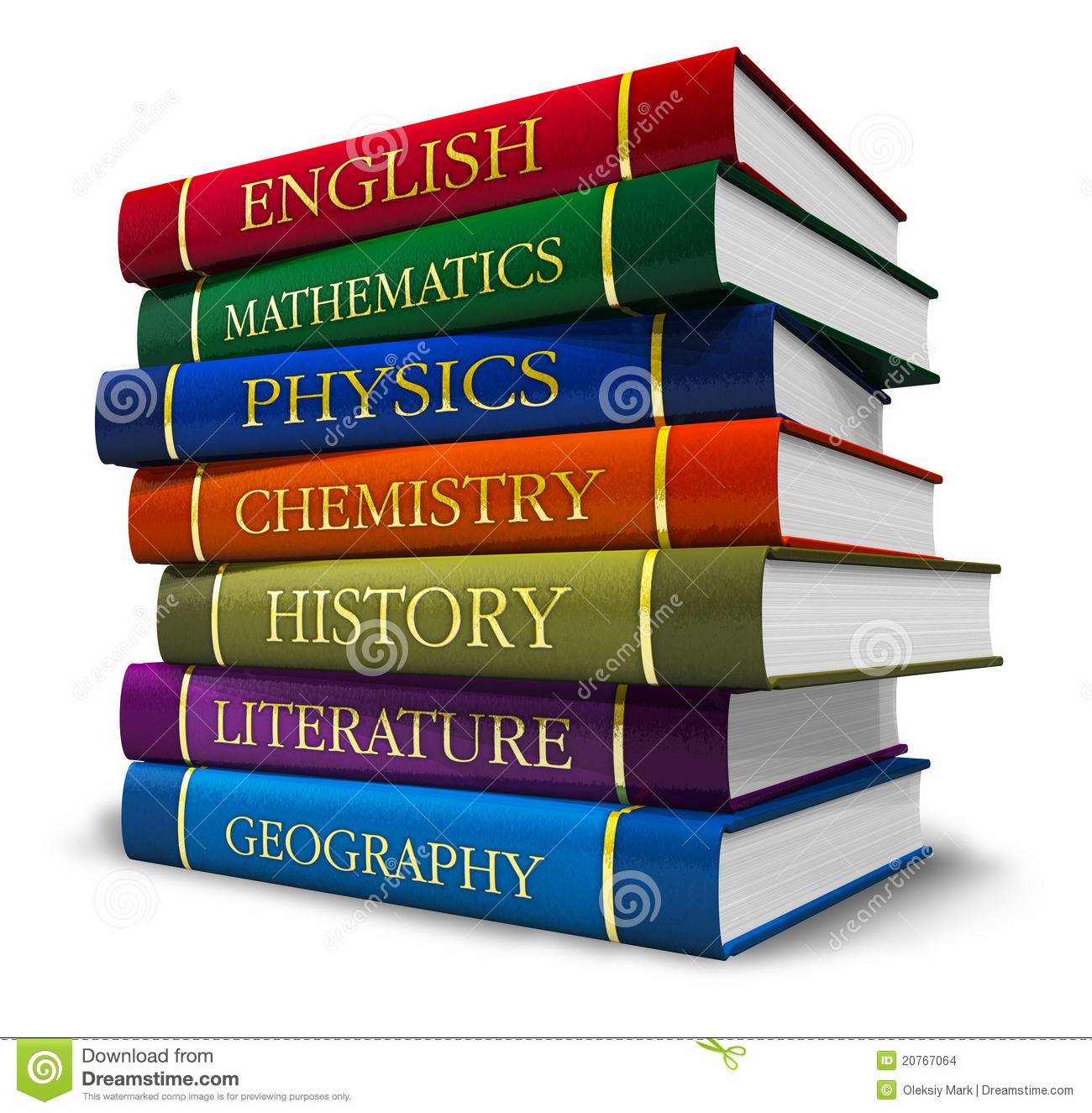 Stack Of Textbooks Stock Illustration Illustration Of