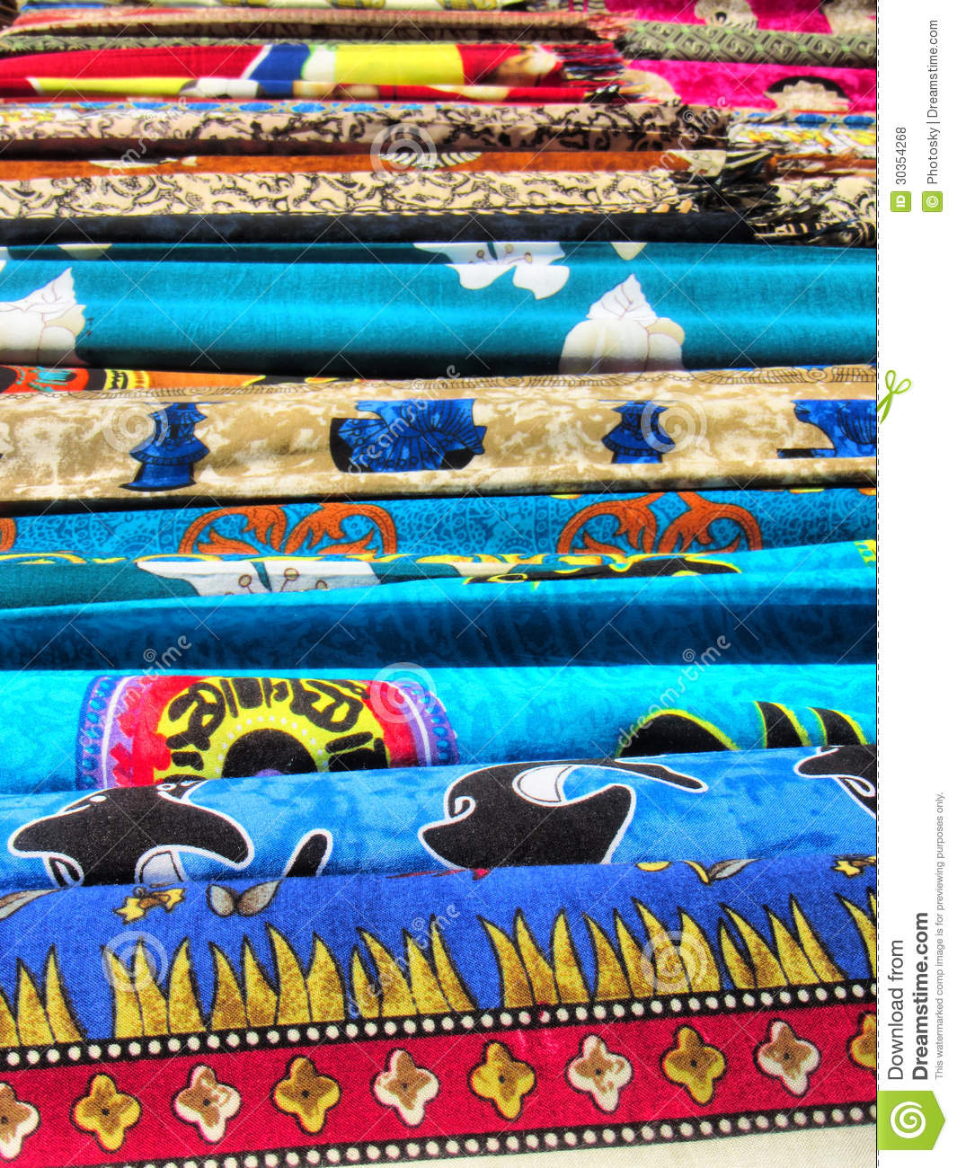 Stack Of Textile Clothes Royalty Free Stock Photos