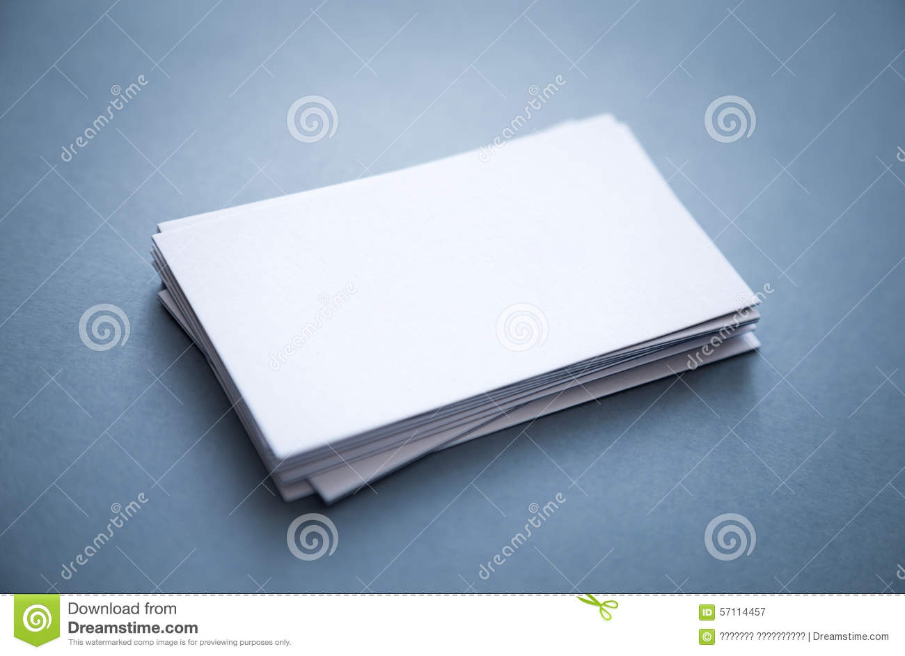 Stack Of Thick Blank Business Cards Stock Image - Image of desk ...