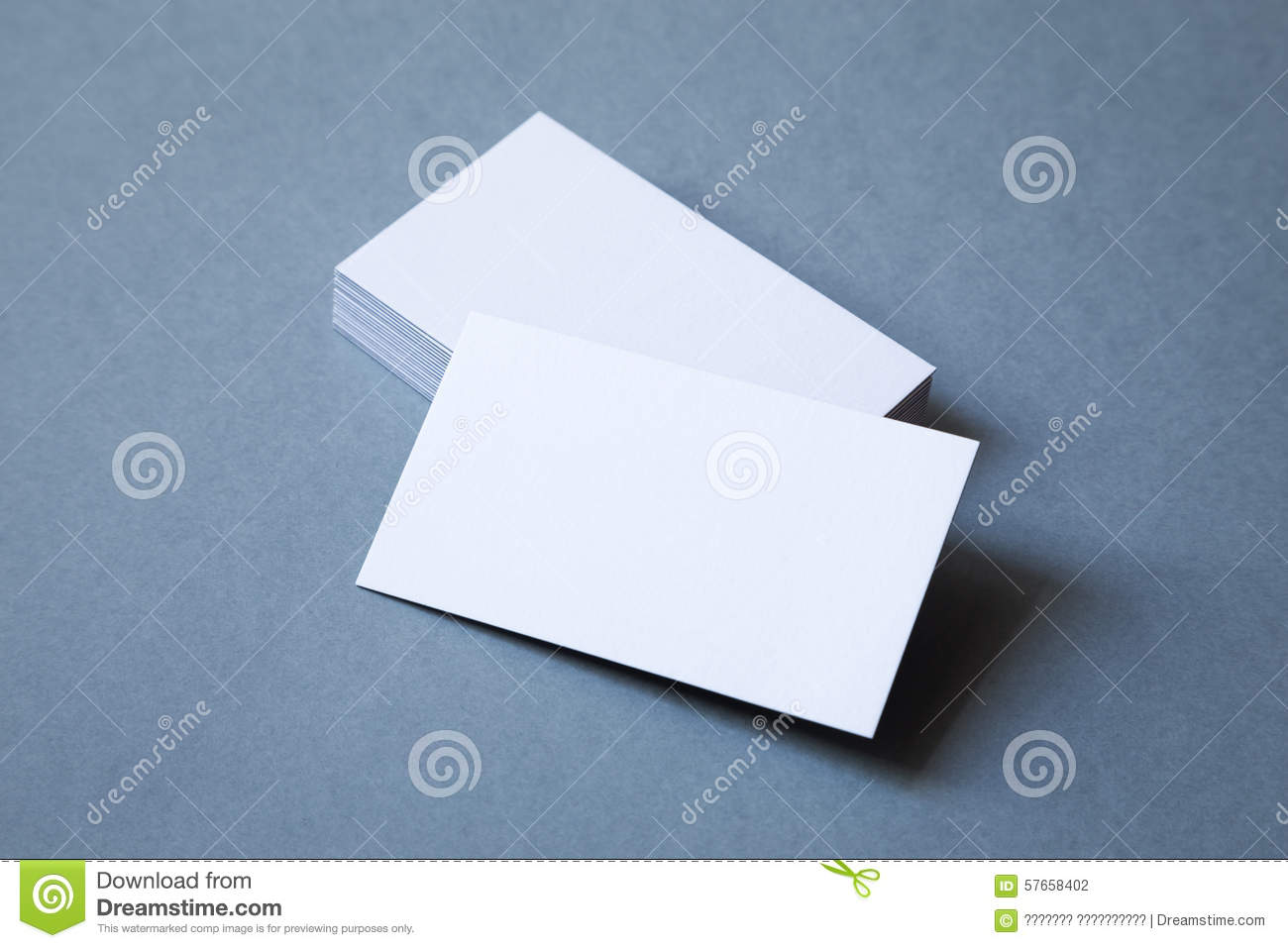 Stack Of Thick Business Cards Top View Stock Photo Image Of Cards