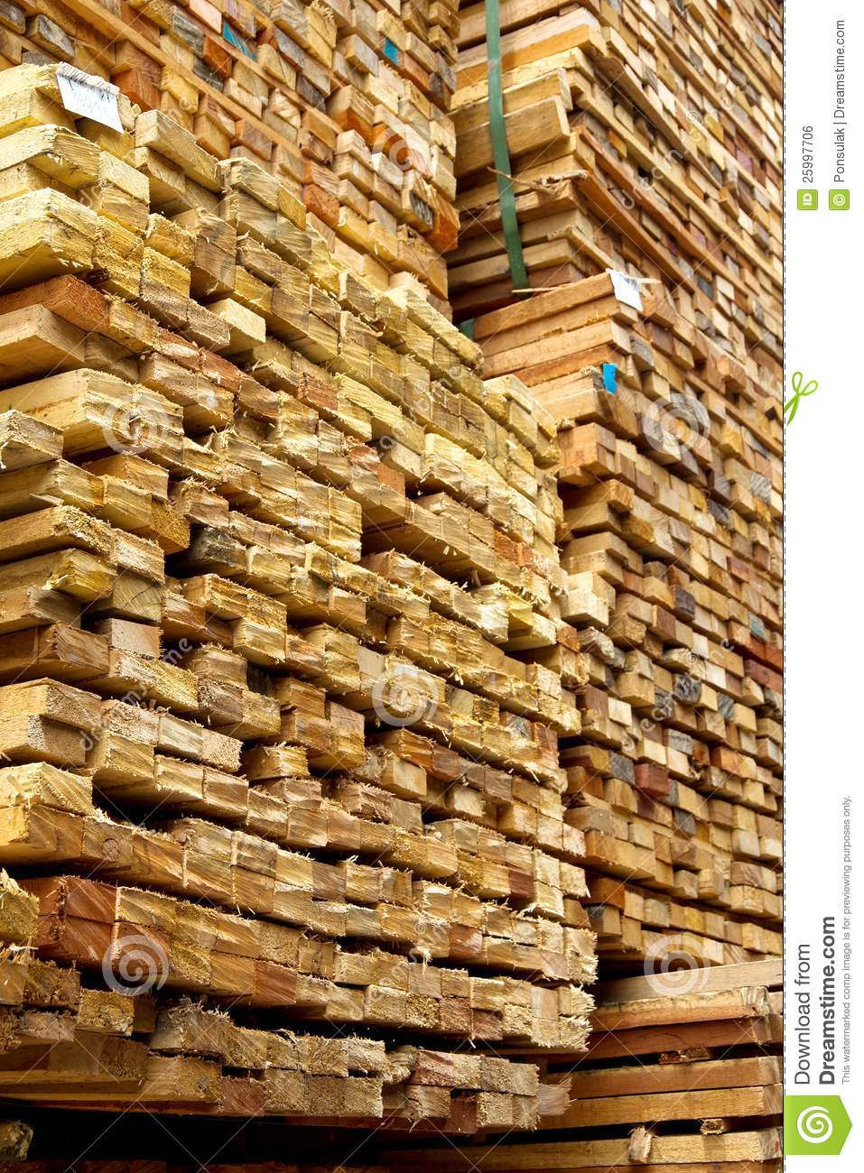 Stack of timber wood royalty free stock image