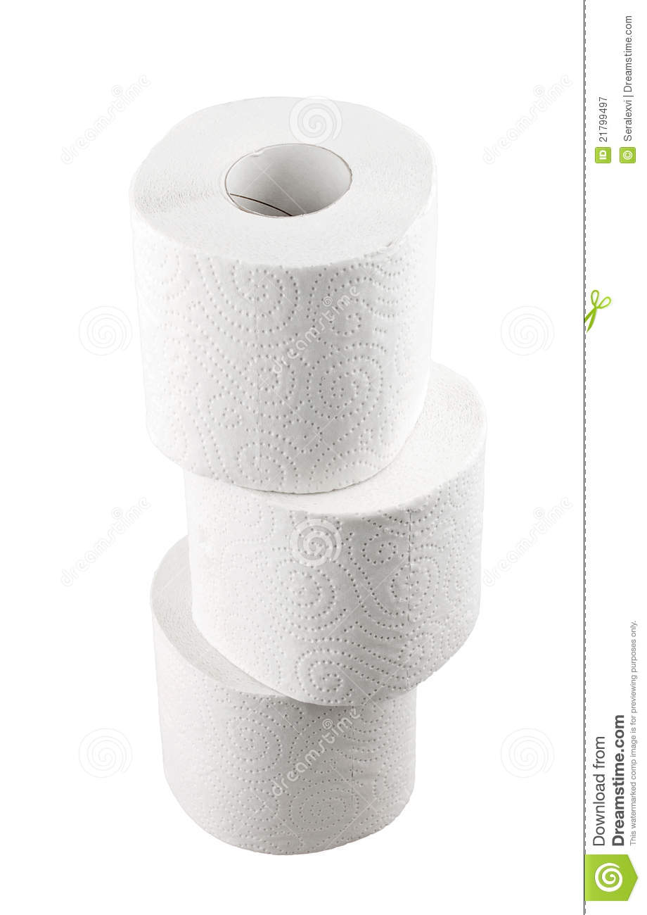 stack of toilet paper royalty free stock photography