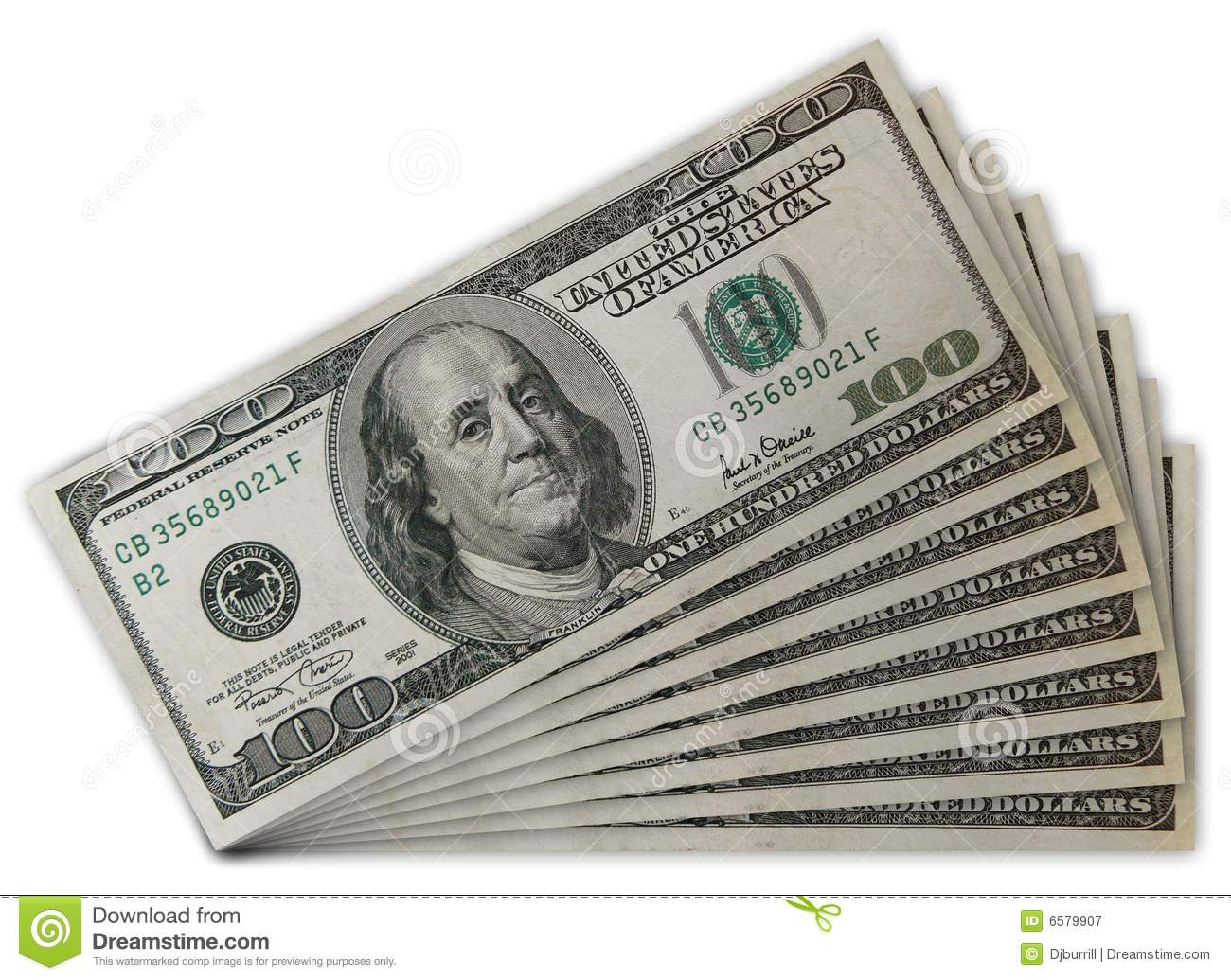 Stack Of US 100 Dollar Bills Stock Image - Image of currency, cash ...
