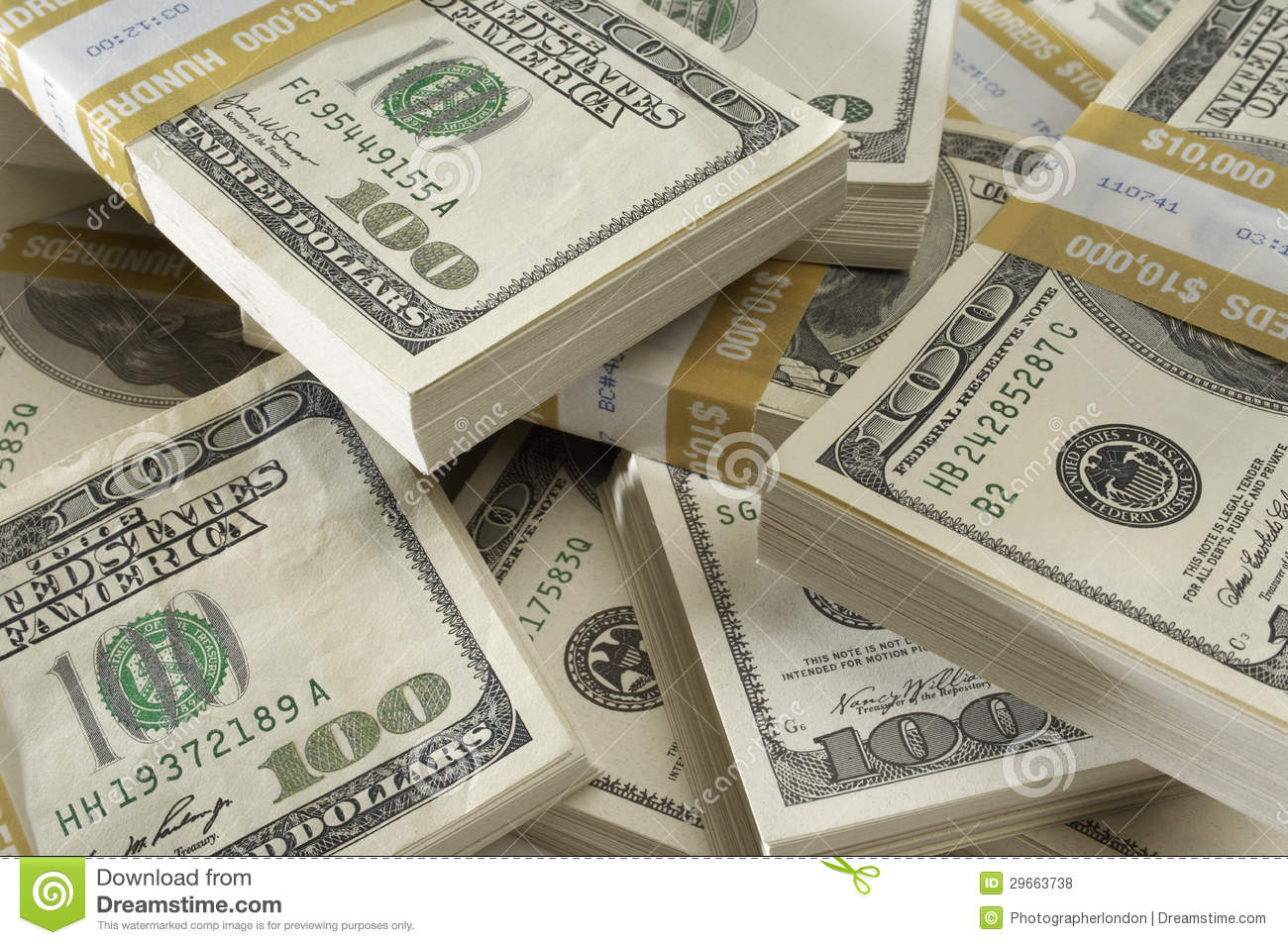 Stack of us currency royalty free stock photos image for How to win money at fish tables