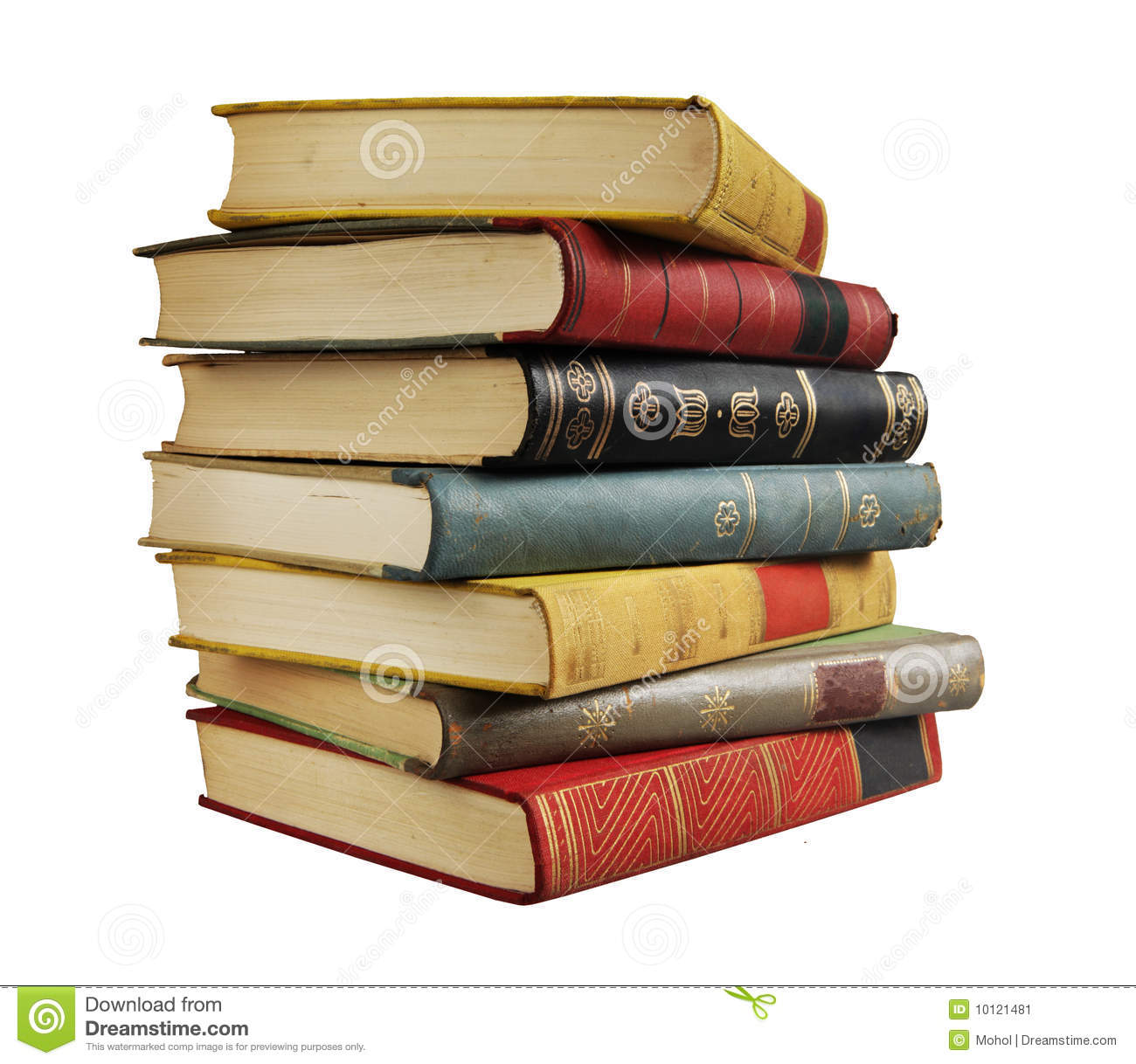 Stack of vintage books stock image. Image of multicolored ...