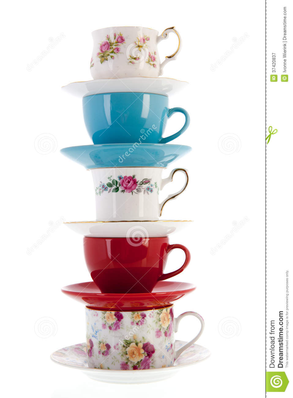 Stack Vintage Coffee Or Tea Cups Royalty Free Stock  : stack vintage coffee tea cups stacked isolated over white background 37420837 from dreamstime.com size 957 x 1300 jpeg 84kB