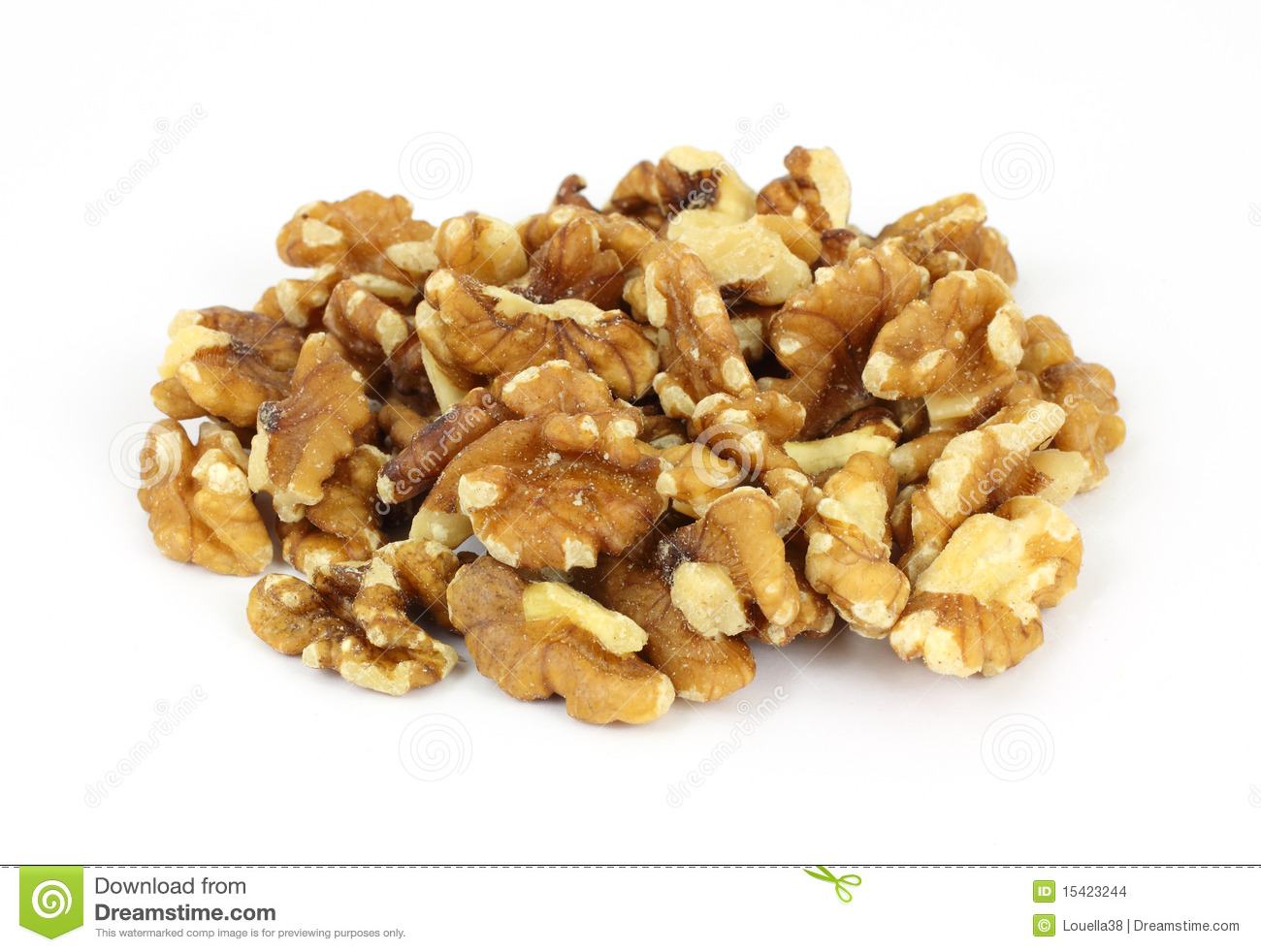 Stack Walnut Pieces And Halves Stock Photo - Image of ...