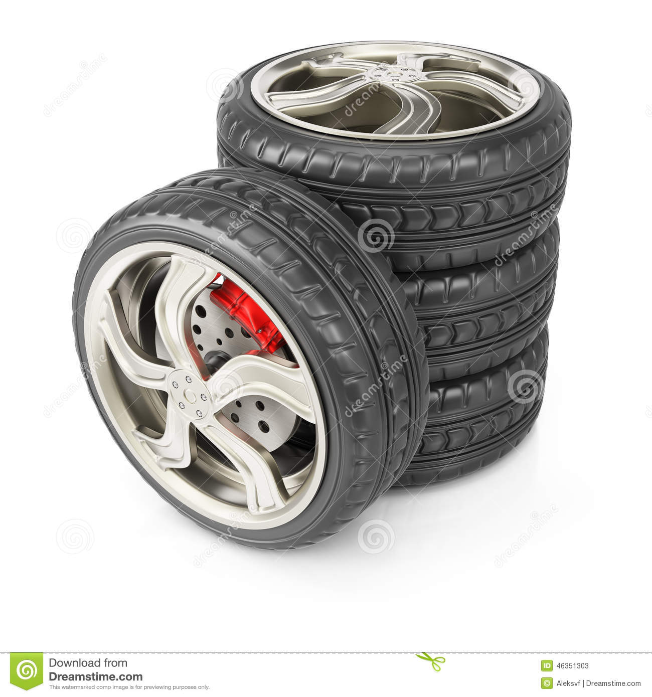 Stack Of Wheels. Isolated. Front View Stock Image ... Race Tire Stack
