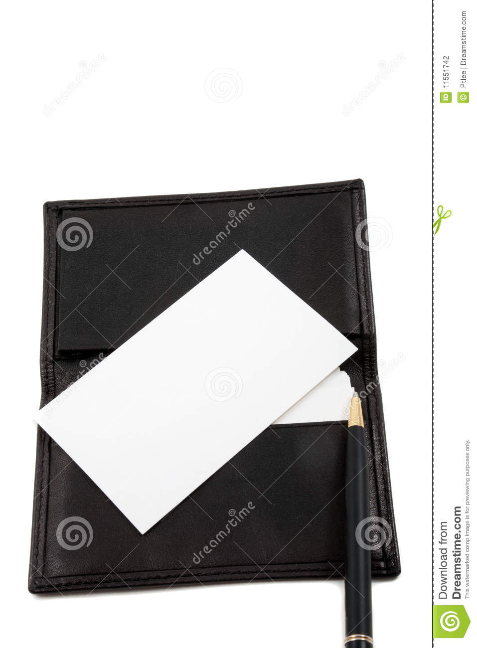 stack of white blank card in card holder stock photo