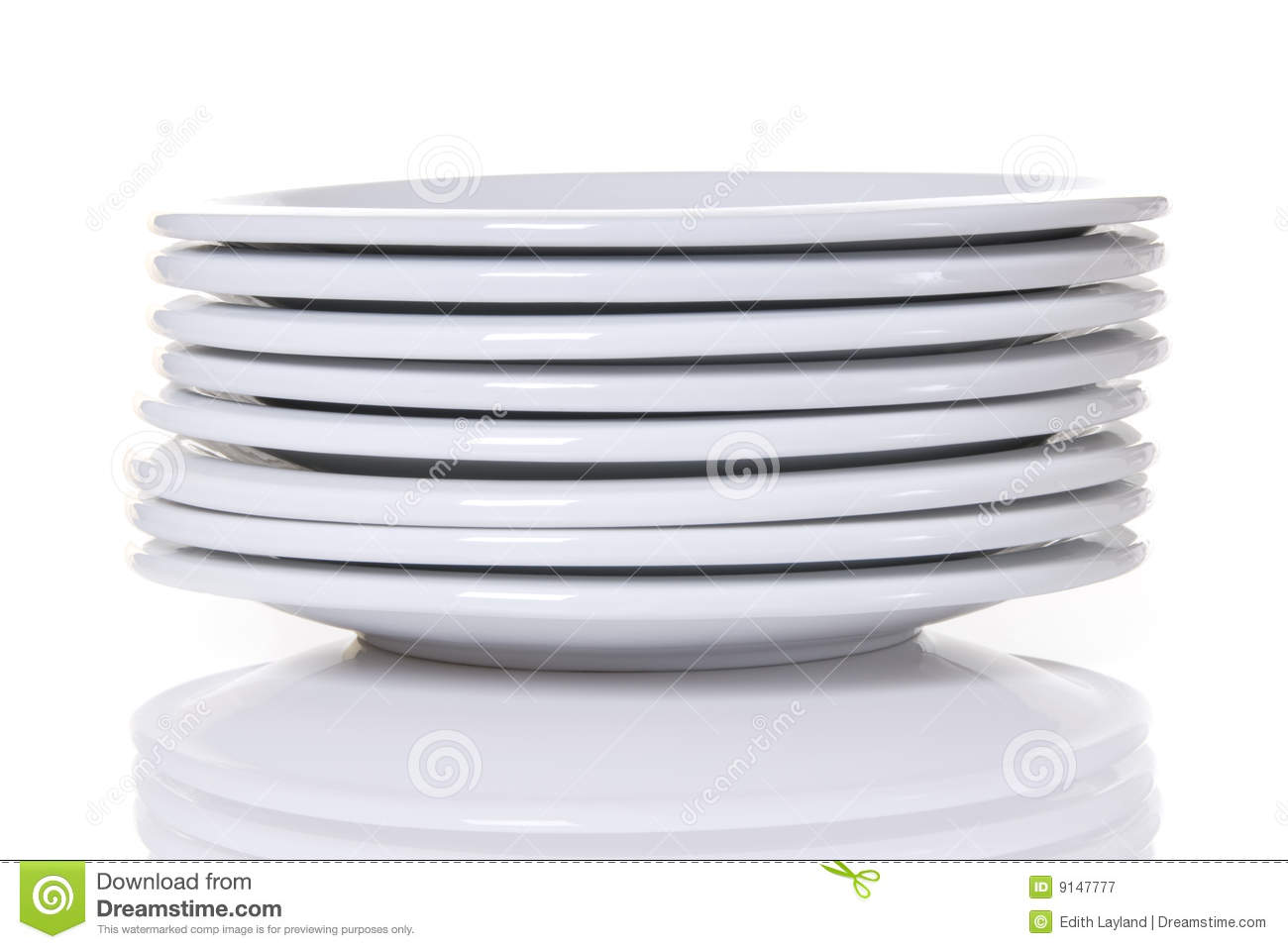 Stack Of White Dinner Plates Stock Image - Image of home, plates ...