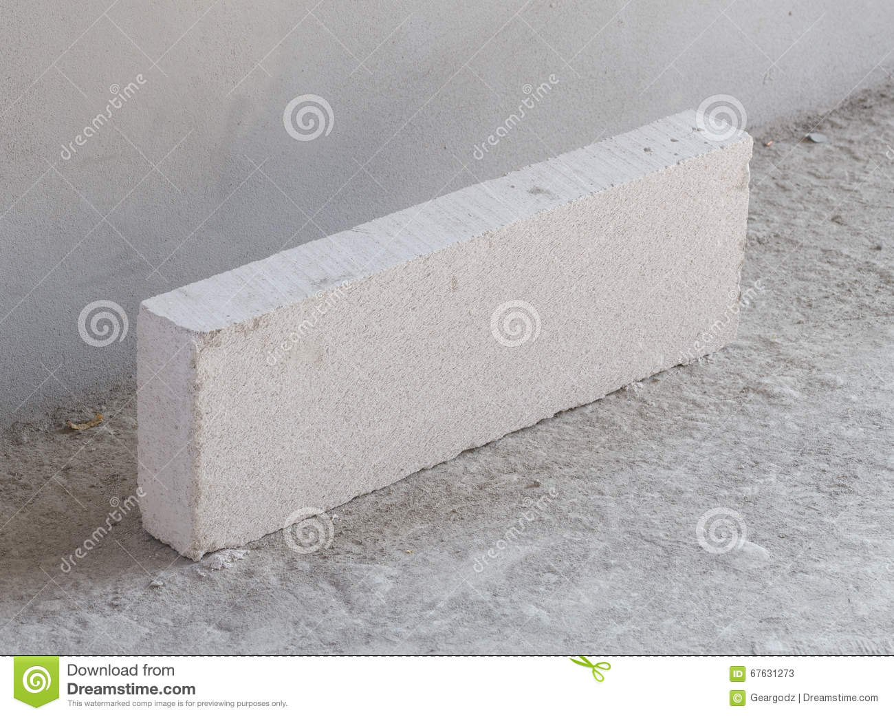 Stack of white lightweight concrete block foamed concrete for Foam concrete construction