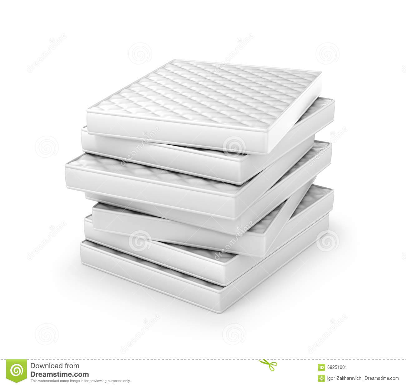 stack of mattresses. Stack Of White Mattresses. Isolated On Gray Background Stock Image Stack Mattresses