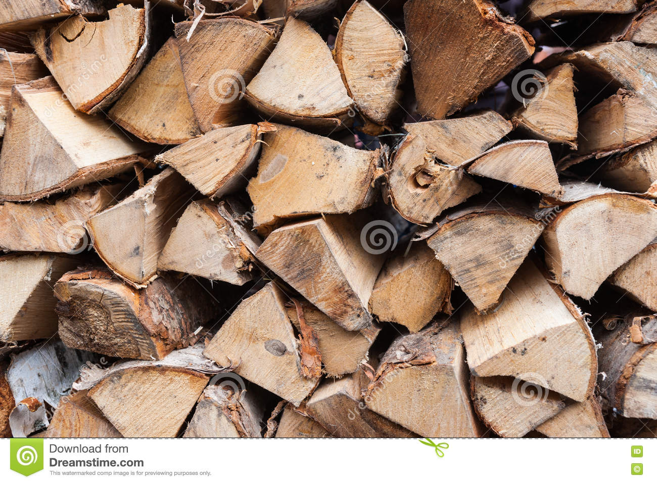 Stack Of Wood For The House Fireplace Stock Image Image Of Wood