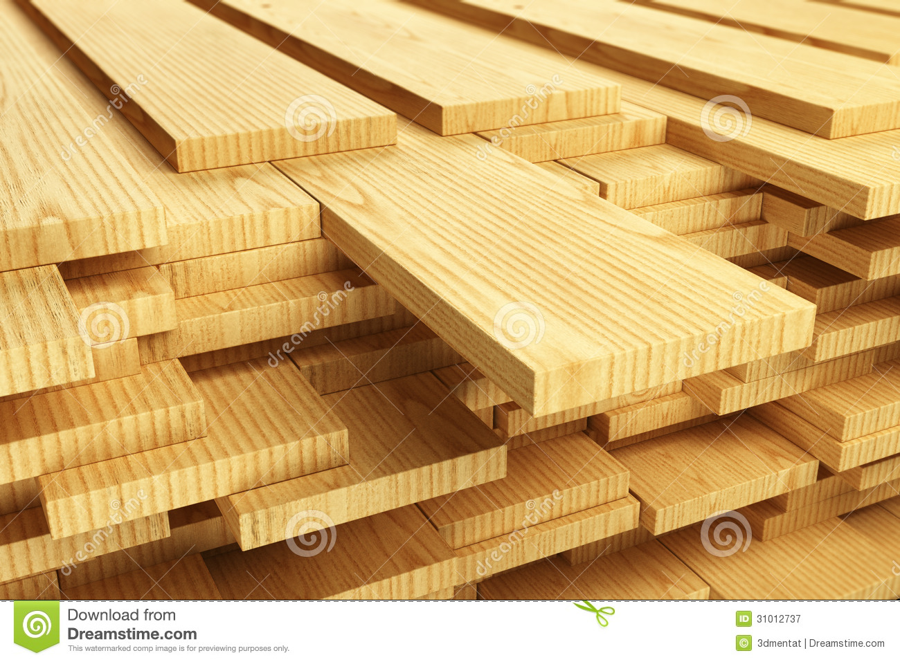 Stack Of Wood Planks Stock Image Image Of Abstract