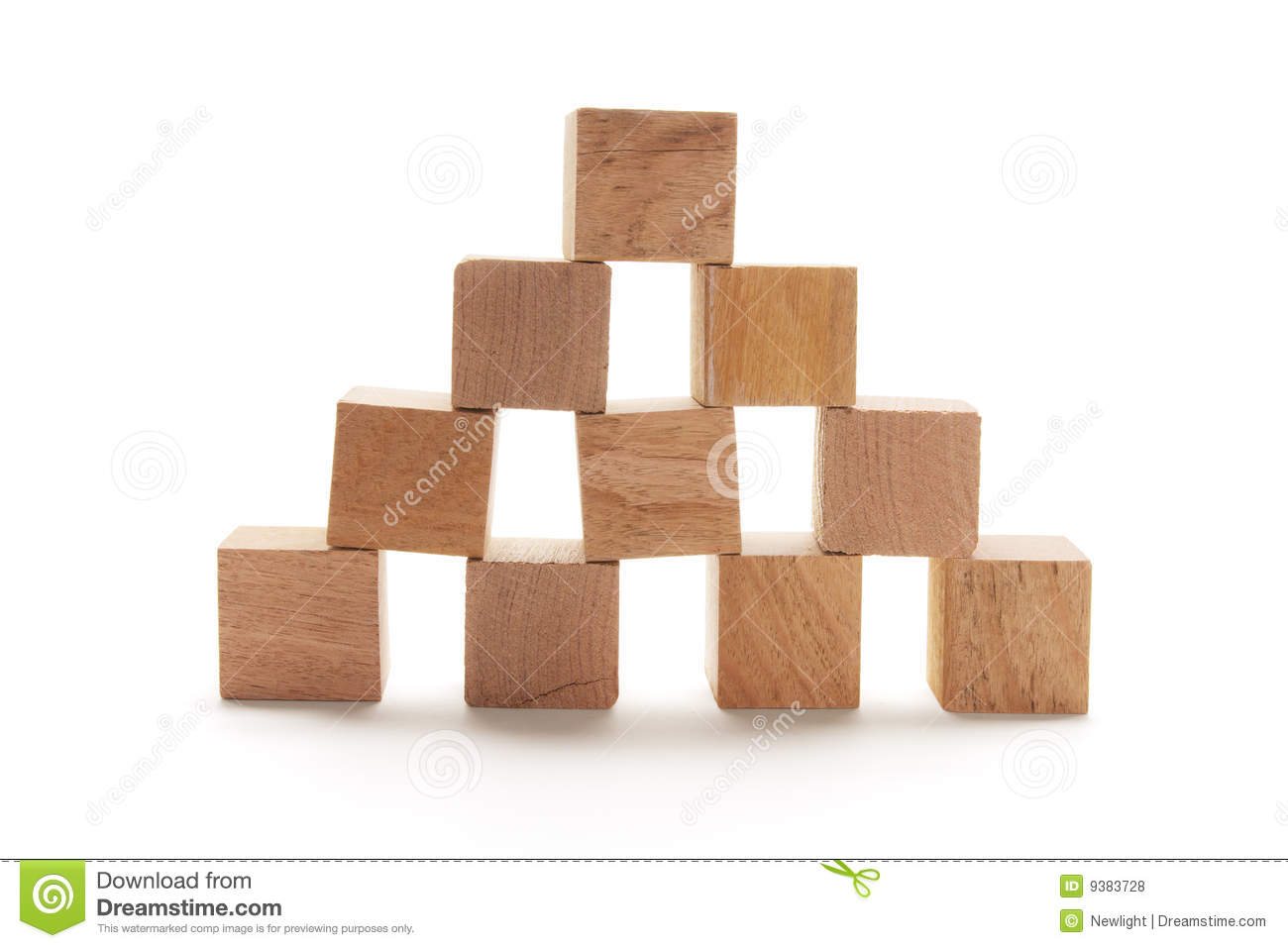 Stack Of Wooden Cubes Royalty Free Stock Photos - Image: 9383728