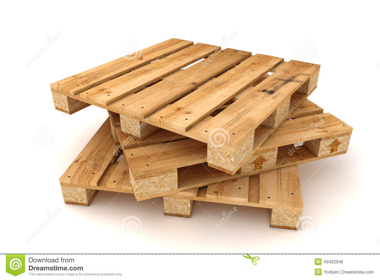 Stack Of Wooden Pallets. Stock Photo - Image: 43422946
