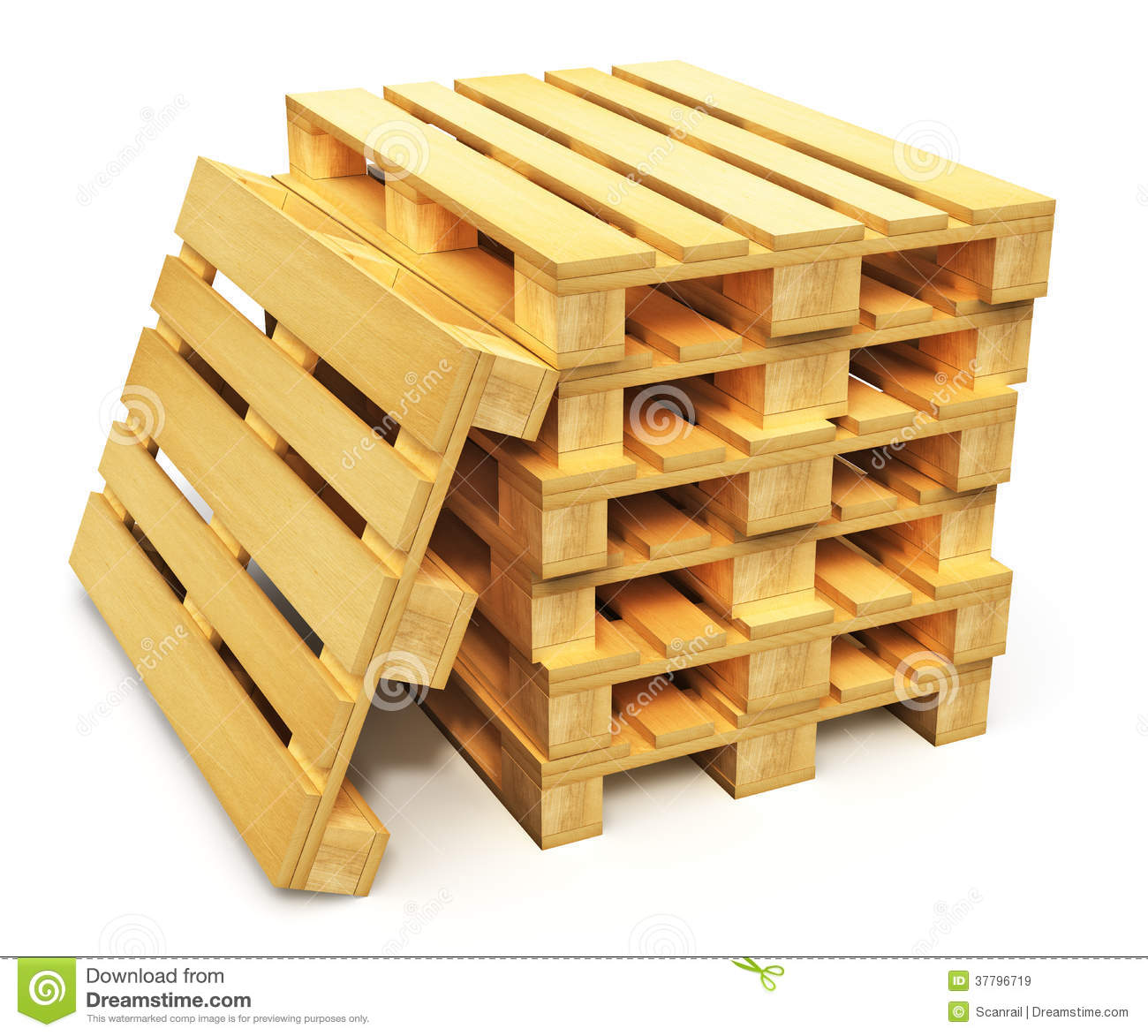 stack of wooden shipping pallets royalty free stock images image 37796719. Black Bedroom Furniture Sets. Home Design Ideas