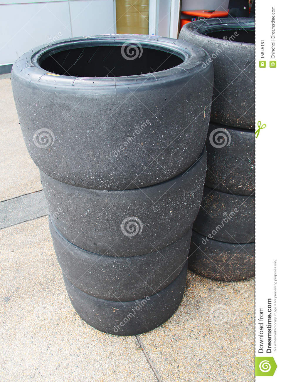 Stack Of Worn Racing Tyres Stock Image - Image: 15845161 Race Tire Stack