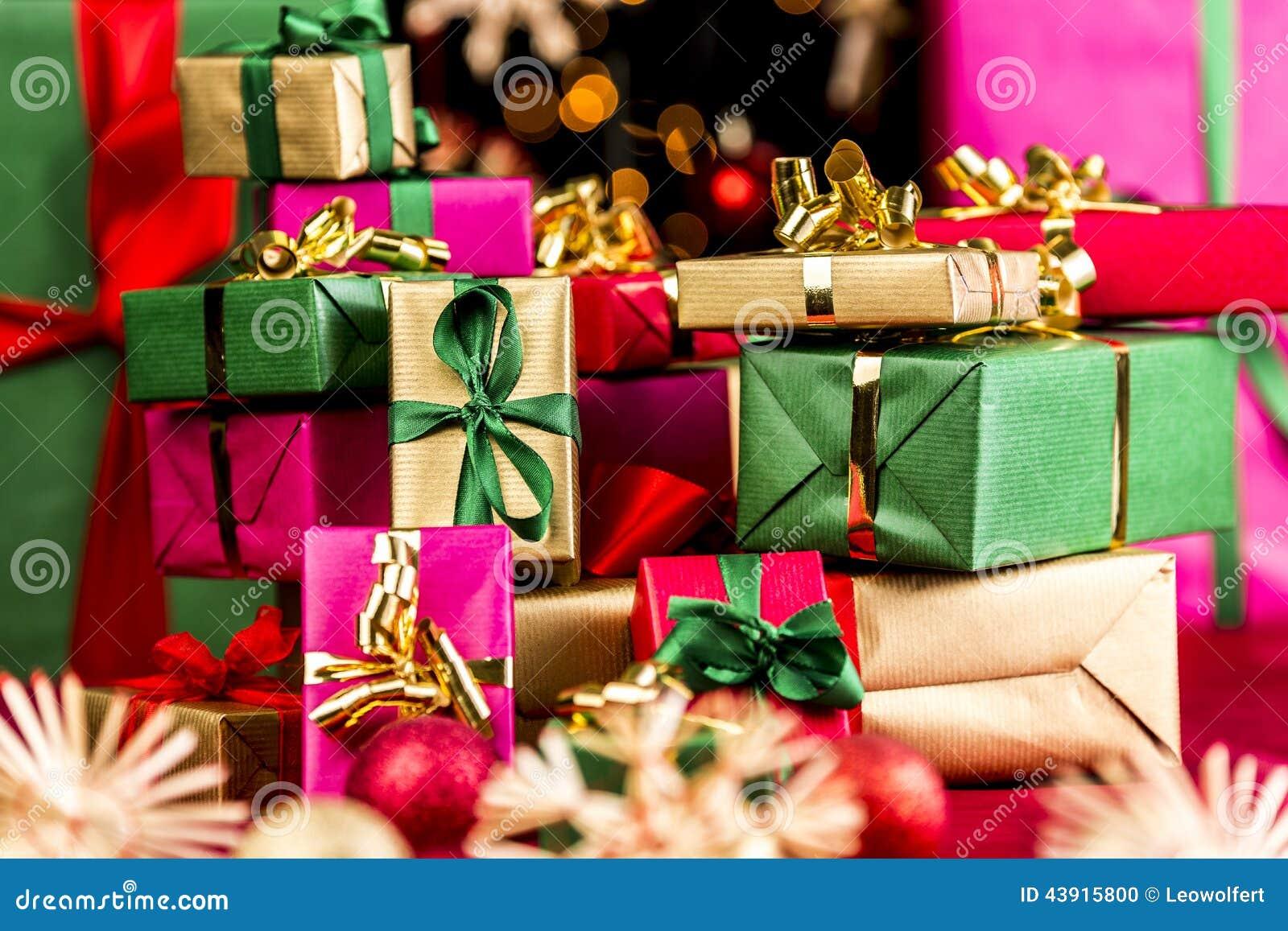 stack of xmas presents - Xmas Gifts