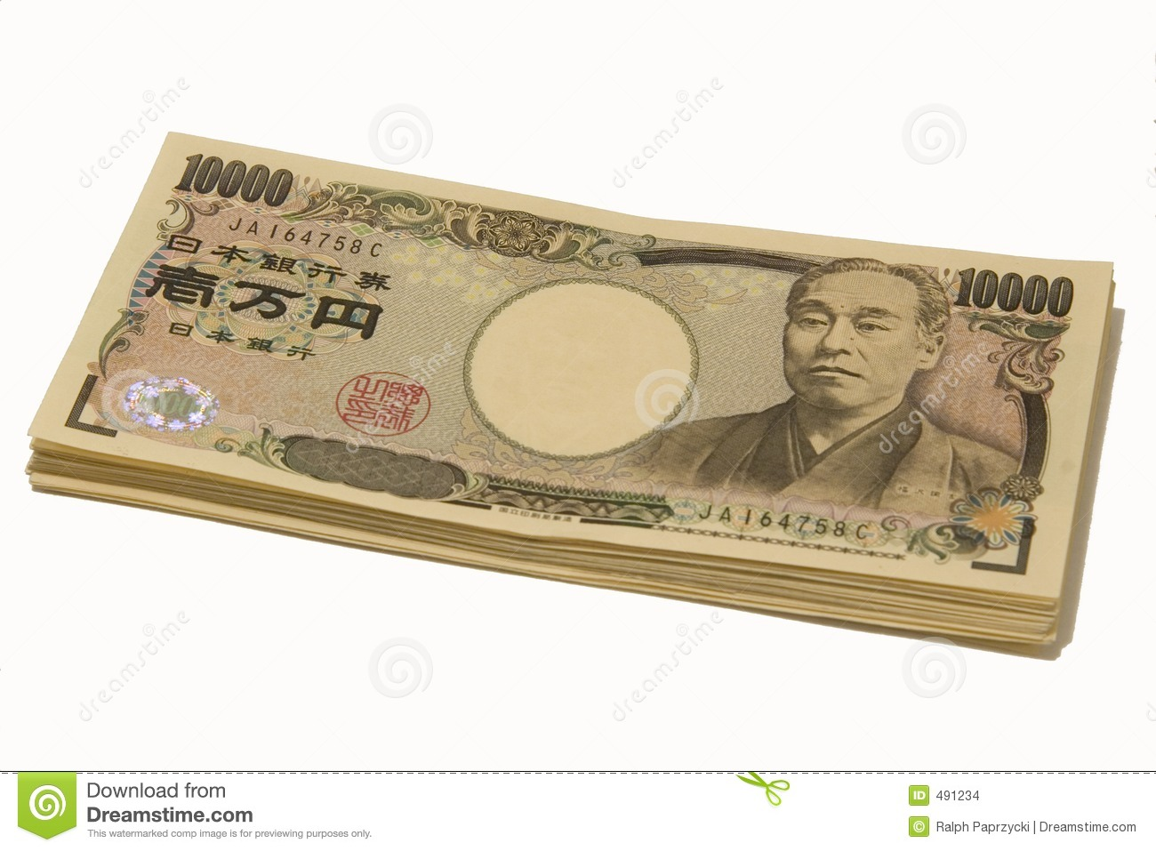 Stack Of Yen Notes Stock Images - Image: 491234