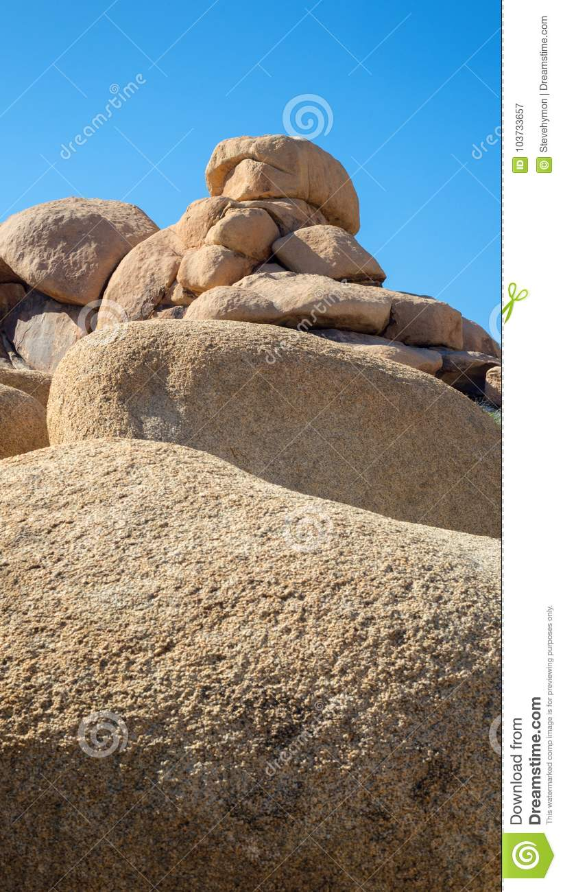 Stacked boulders in Joshua Tree National Park wall art for smartphone