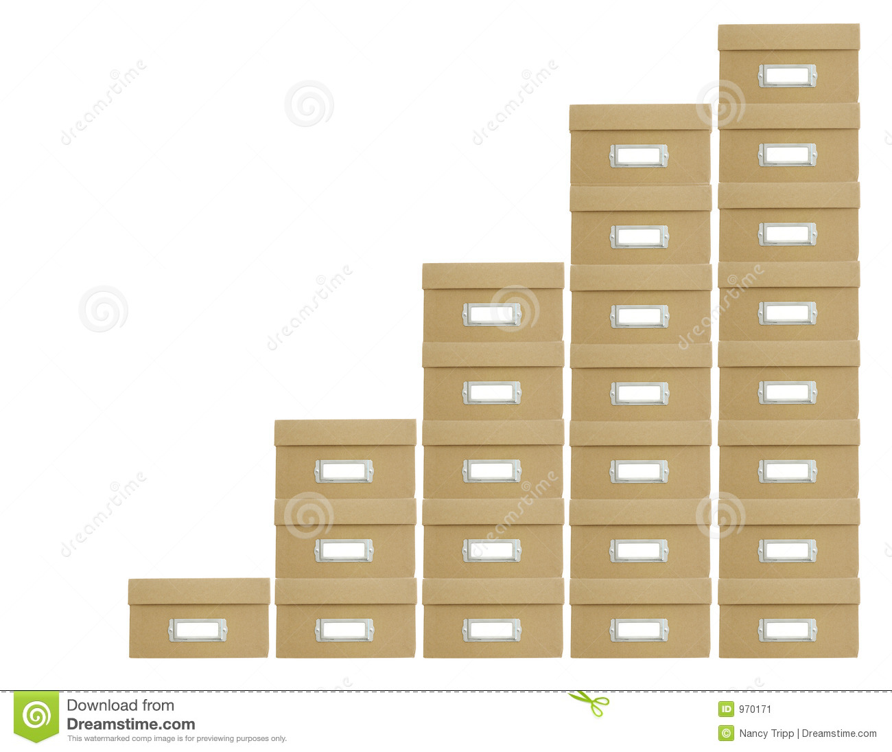 stacked boxes stock image  image of rise  columns  track