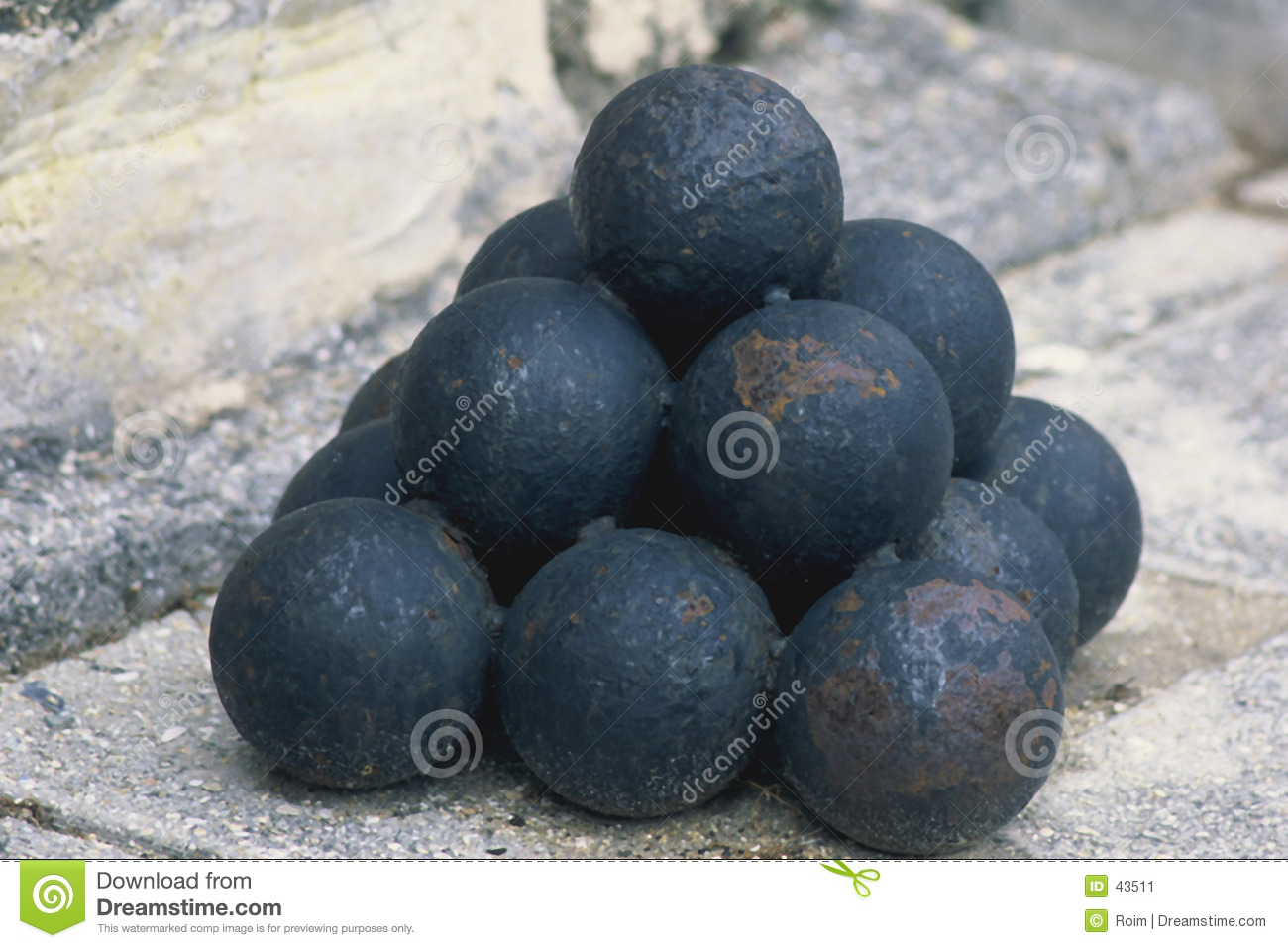 Stacked Cannon Balls