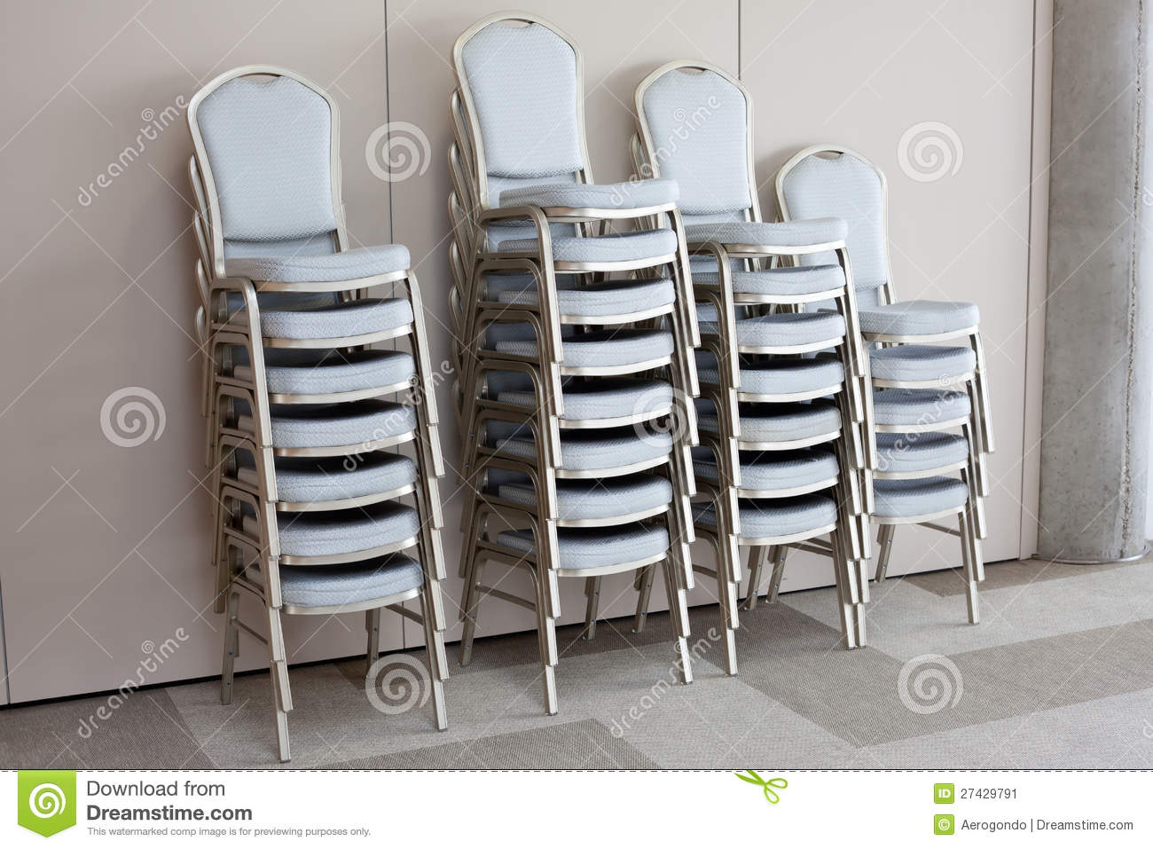 Classroom chairs stacked - Stacked Chairs