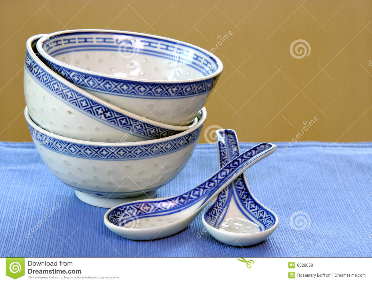 Download Stacked Chinese Bowls stock photo. Image of macro, three - 6328658