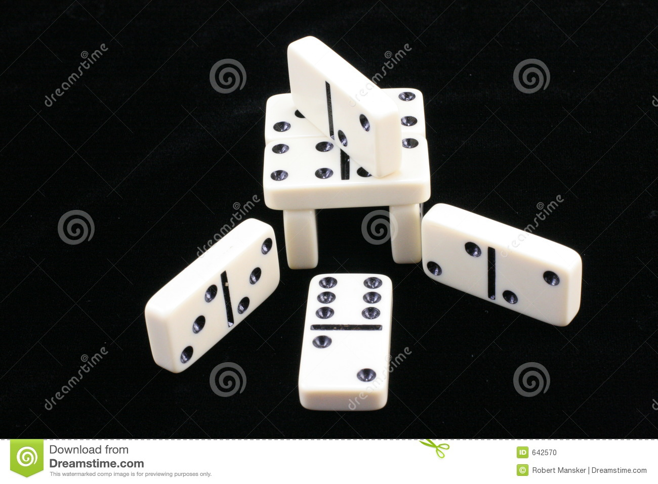 Stacked dominoes.