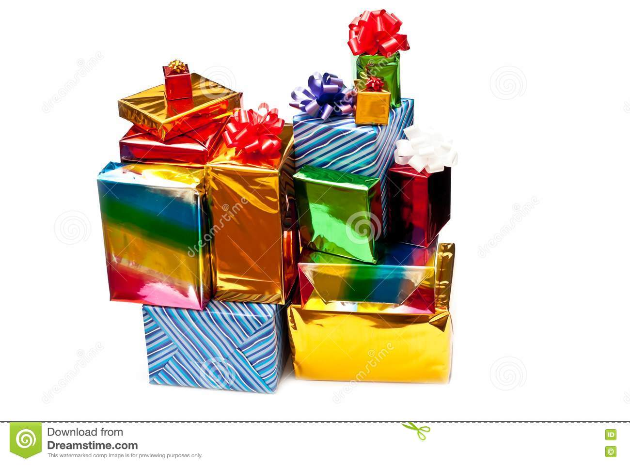 Stacked gift boxes stock images image