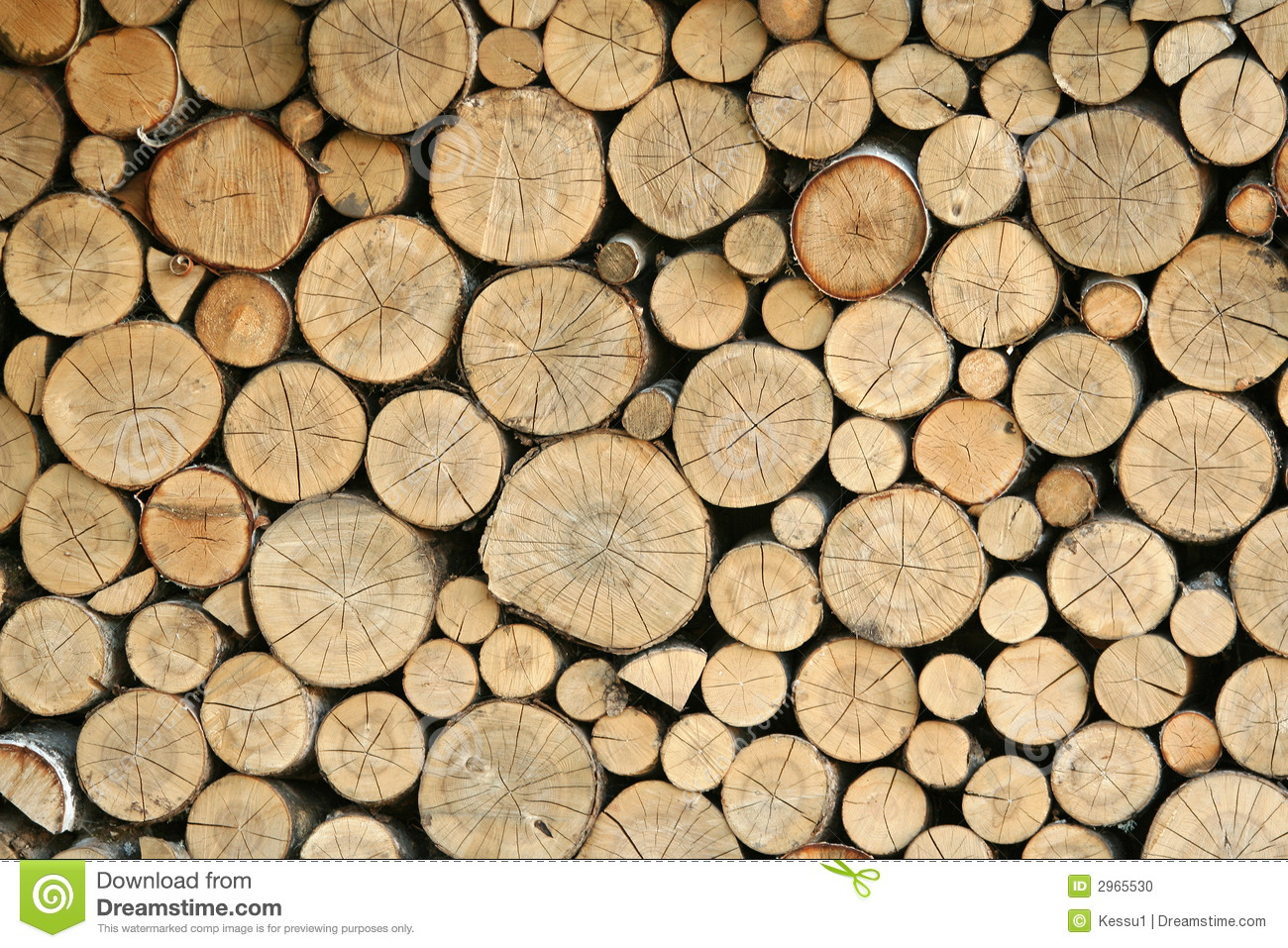 Stacked logs stock pho...