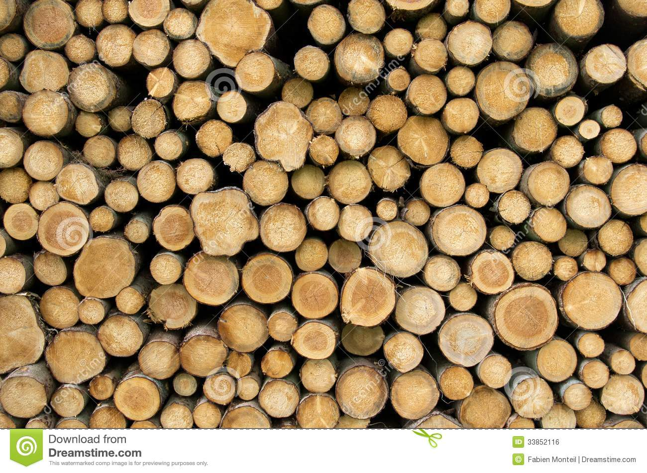 Stacked Logs Royalty Free Stock Image Image 33852116