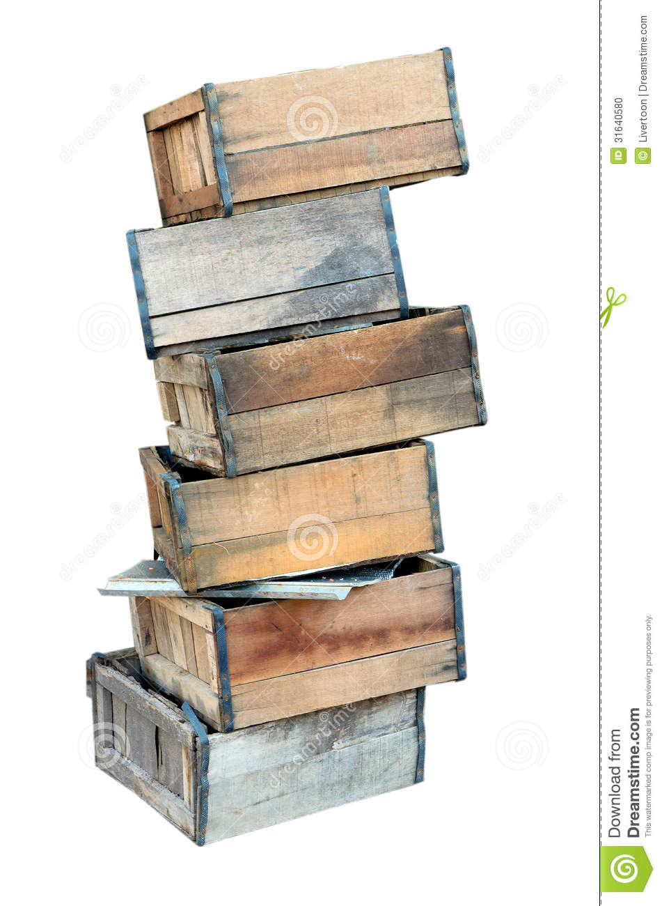Stacked Old Wooden Crates Stock Photo Image 31640580