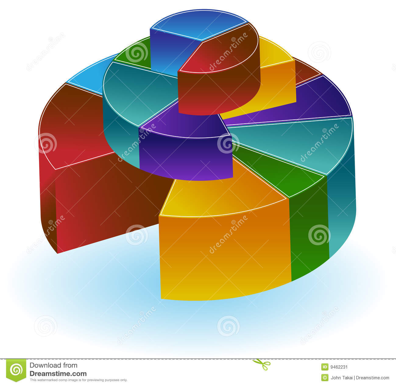 Stacked pie chart stock vector image of pieces image 9462231 stacked pie chart nvjuhfo Images