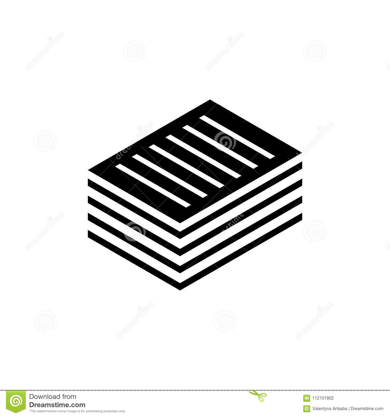 Stacked Pile Of Financial Documents Flat Vector Icon Stock ...Pile Icon