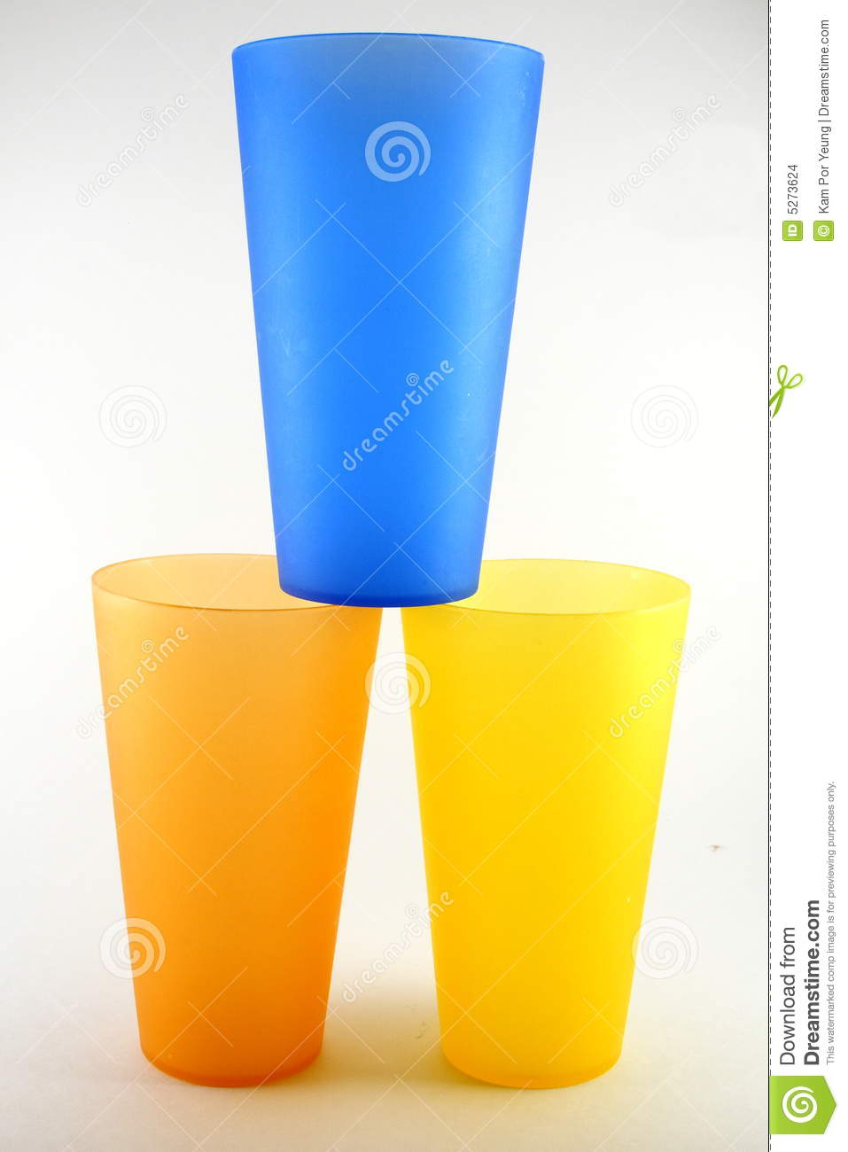 Stacked plastic party cups
