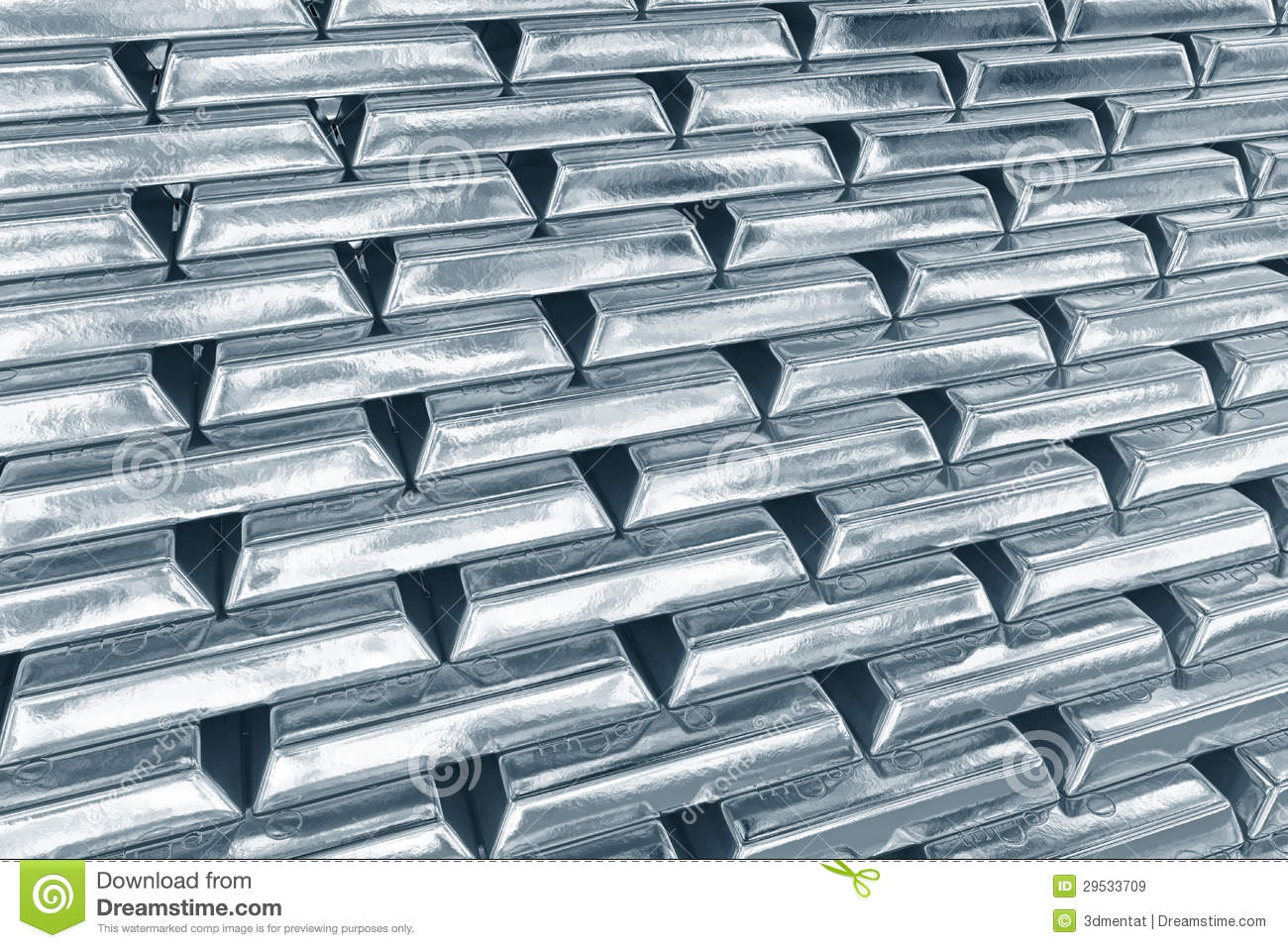 Stacked Platinum Bars Stock Illustration Image Of Buillon