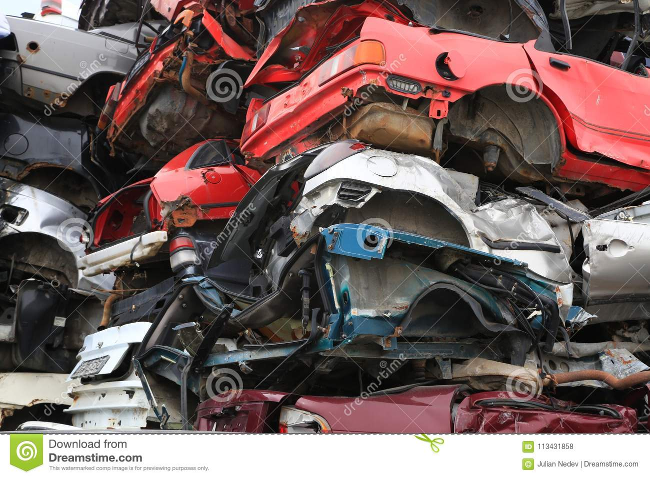 Cars for scrap stock photo. Image of recycling, cars - 113431858