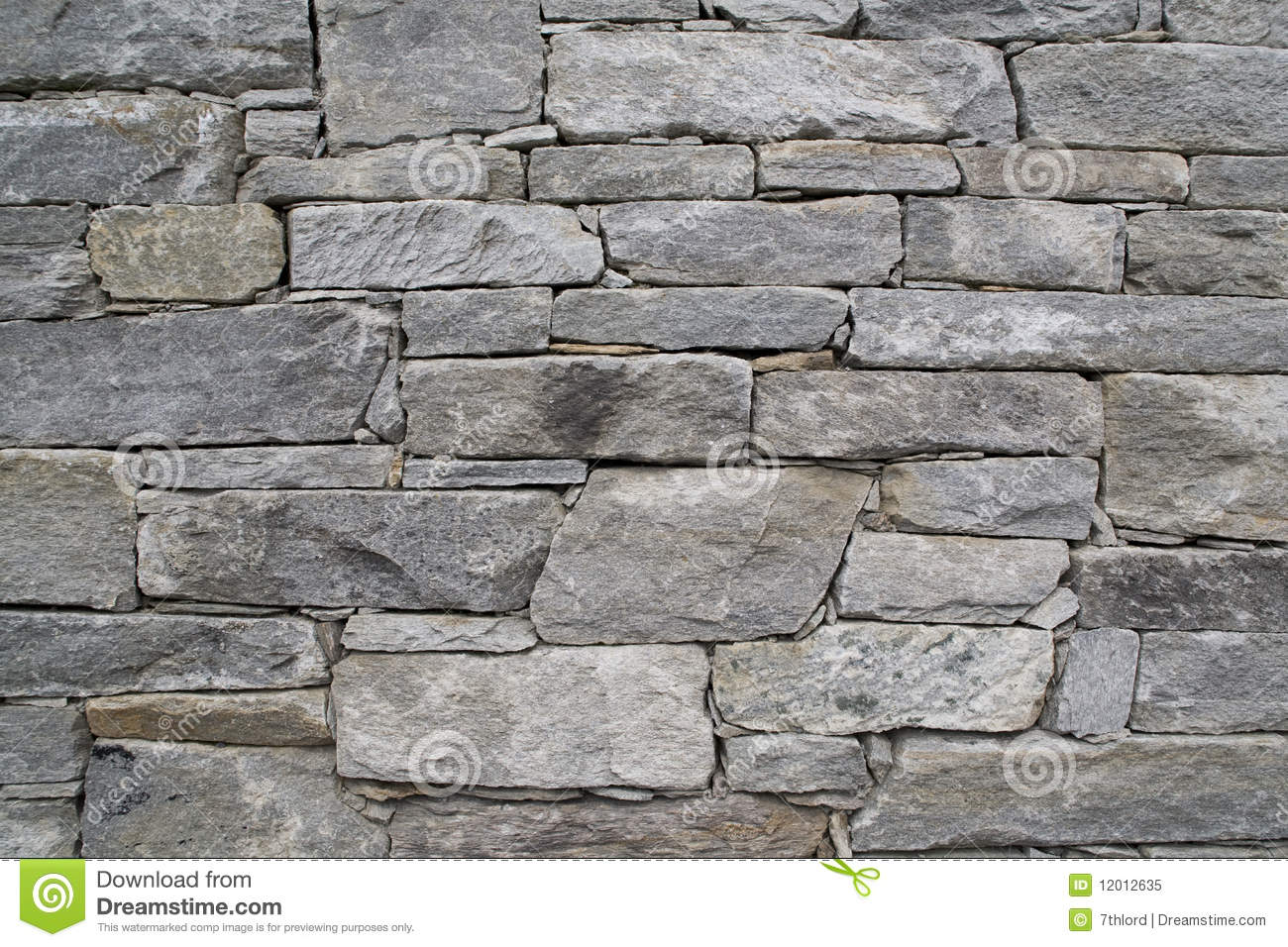 Stacked Stone Wall Stock Image Image Of Garden Stone