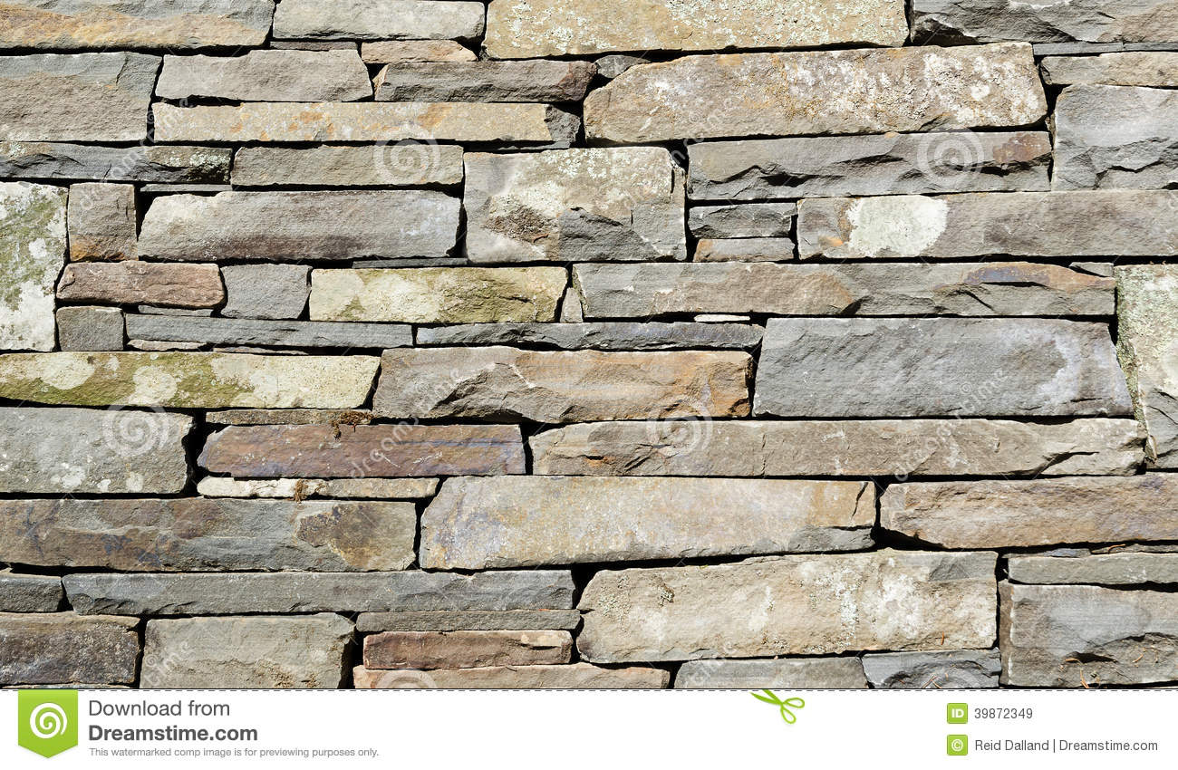 Stacked stone wall detail stock image image of stacked for Stacked stone house