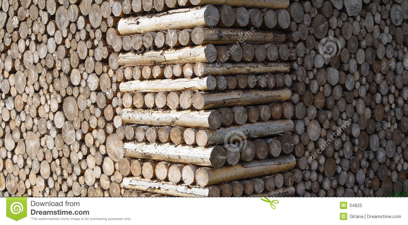 Royalty free stock photo stacked wood