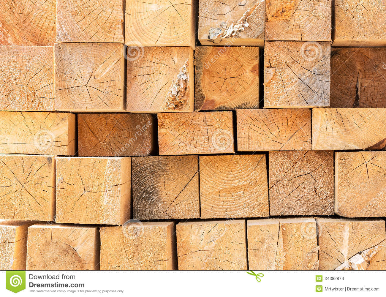 Stacked wood beams stock photo image of rough objects for Natural wood beams